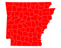 Map of Arkansas Stock Images