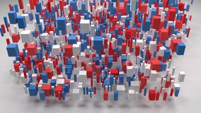 Map of Arkansas - USA -. Decorative map of Arkansas - USA | 3D Rain of little bricks stock video