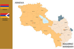 Map of Armenia. Royalty Free Stock Images