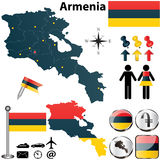 Map of Armenia Royalty Free Stock Image