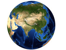 Map of Asia Stock Photo
