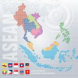 Map of Asia Pixel Royalty Free Stock Image
