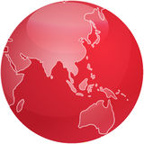 Map of Asia sphere Royalty Free Stock Image