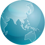 Map of Asia sphere Stock Photography