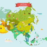 Map of Asia. Royalty Free Stock Photography