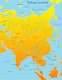 Map of asian continent Stock Images
