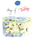 Map of attraction of Turkey Stock Image