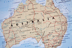 Map of Australia  Stock Images