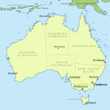 Map of Australia Royalty Free Stock Photos