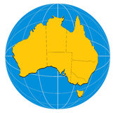 Map of the Australia Royalty Free Stock Image