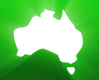 Map of Australia Royalty Free Stock Image