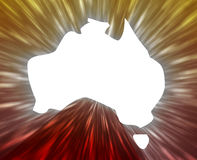 Map of Australia Stock Image