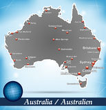 Map of Australia Stock Photography