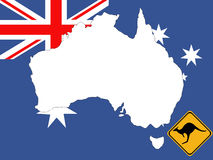 Map of Australia background Stock Images
