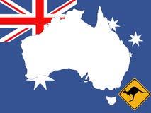 Map of Australia background Stock Images