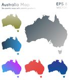 Map of Australia with beautiful gradients. Actual set of Australia maps. Impressive vector illustration stock illustration