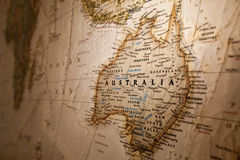 Map of Australia. A map of the big country Australia stock photos