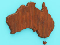 Map of Australia Royalty Free Stock Images