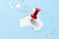 Map of Australia Royalty Free Stock Photo