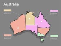 Map Australia concept. Royalty Free Stock Image