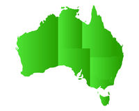 Map of Australia Stock Photography