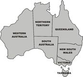 Map of australia Stock Photo