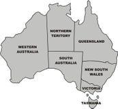 Map of australia Stock Photo