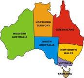 Map of australia Royalty Free Stock Photo