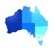 Map of Australia Royalty Free Stock Photography