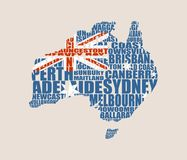 Map of Australia Royalty Free Stock Photography