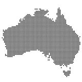 Map of Australia made of dot Royalty Free Stock Image