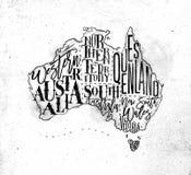 Map Australia vintage Stock Images