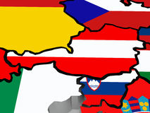 Map of Austria. Stock Photos