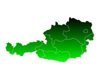 Map of Austria Stock Image