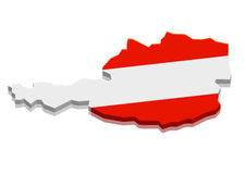 Map Austria Stock Image