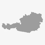 Map of Austria in gray on a white background. Map  of Austria in gray on a white background Royalty Free Stock Images
