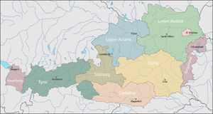 Map of Austria Royalty Free Stock Photos