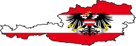 Map Austria-Vector Royalty Free Stock Photo