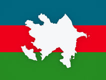 Map of Azerbaijan. Stock Photo