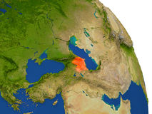 Map of Azerbaijan in red Stock Image