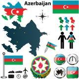 Map of Azerbaijan stock photos