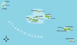 Map Azores stock photo