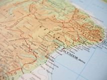 Map of Bahia, Brazil - 1 Royalty Free Stock Photography