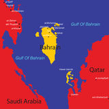 Map of Bahrain. With vibrant colors vector illustration