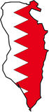 Map Bahrain-Vector Royalty Free Stock Photo