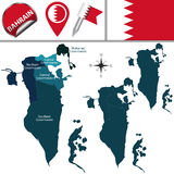 Map of Bahrain Stock Photo
