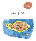 Map Bali attractions Stock Images