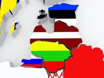 Map of Baltic Stock Photos