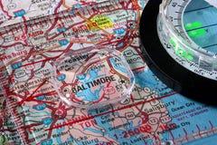 Map Baltimore Stock Image