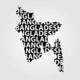 Map of Bangladesh Royalty Free Stock Photo